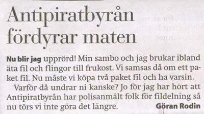 Insändare: Gävle Dagblad/Göran Rodin - Insändare från Gävle Dagblad, oktober 2005