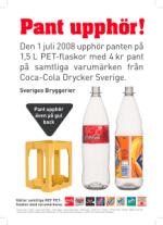 Coca-Cola hoppar INTE av pantsystemet