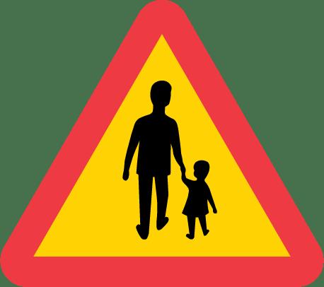 A14-varning-gaende