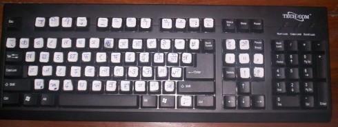 keyboard converted for hindi