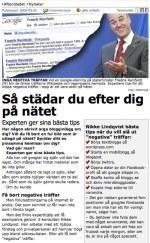 Aftonbladet om sökmotorstädning