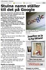 Mer om Google-städning i Aftonbladet