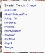 När en tagg trendar på Twitter