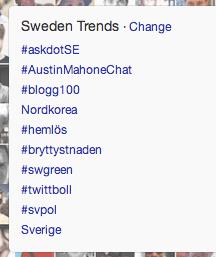 #Blogg100 trendar