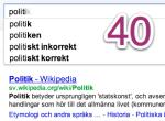 De politiska partiernas Google-träffar