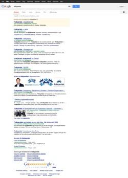 Folkpartiets förstasida i Google 2013-03-03