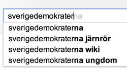 sökförslag för Sverigedemokraterna 2013-03-07