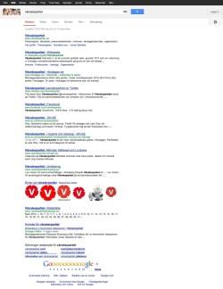 Vänsterpartiets Google-resultat 2013-03-08 - Klicka för större bild