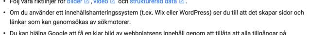 Google råkar rekommendera Wix och WordPress i samma mening