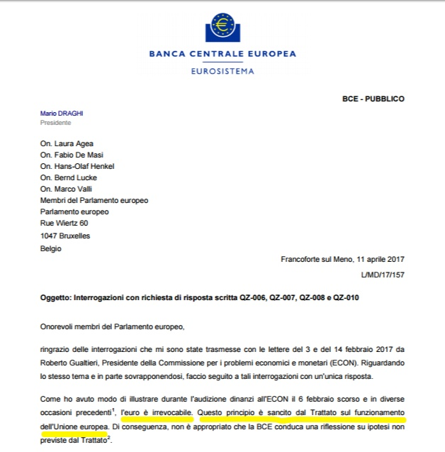 Draghi all'Aia