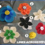 Felt Flowers (hair clips and pins)
