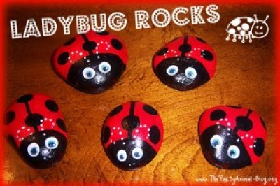 Adorable Ladybug Crafts Lines Across