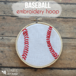 Baseball Embroidery Hoop