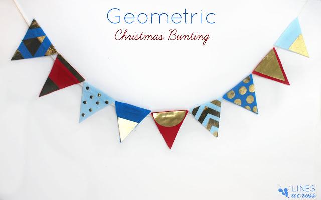 Geometric Christmas Bunting