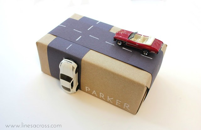 2 creative gift wrapping kids cars and road 2