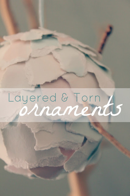 Layered and Torn Paper Ornaments