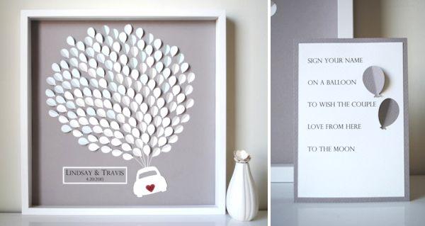 20 Creative Guest Book Ideas for a DIY Wedding - Lines Across