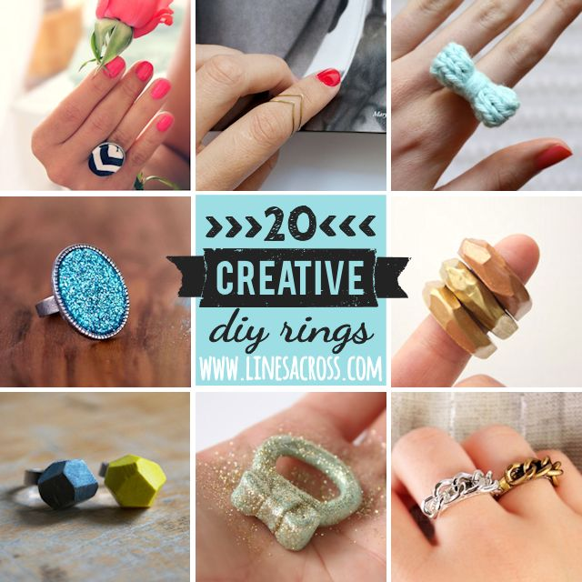 20 Beautiful DIY Rings - Lines Across