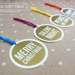 Gold Vinyl Christmas Gift Tags