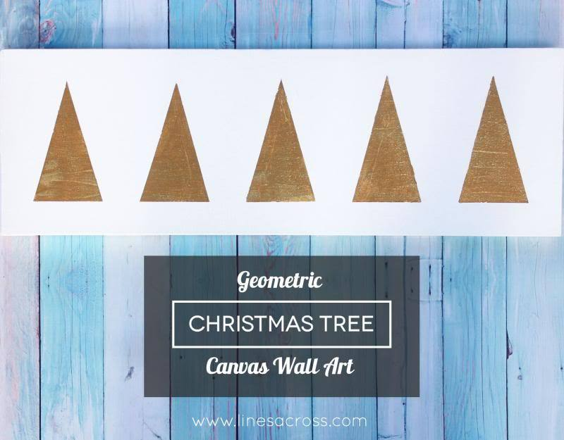 Geometric Christmas Tree Wall Art