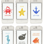 Free Nautical Watercolor iPhone Wallpapers