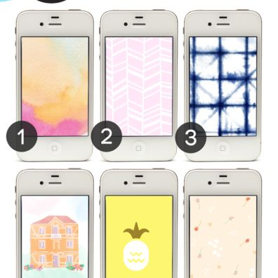24 Free Graphic Summer iPhone Wallpapers - Lines Across