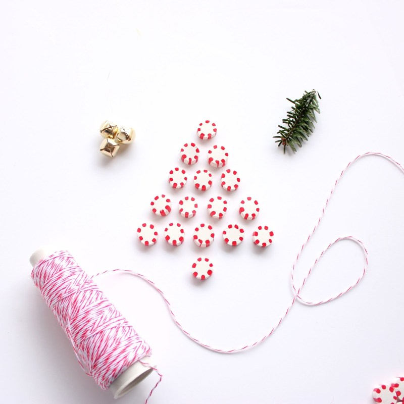Polymer Clay Peppermint Candies