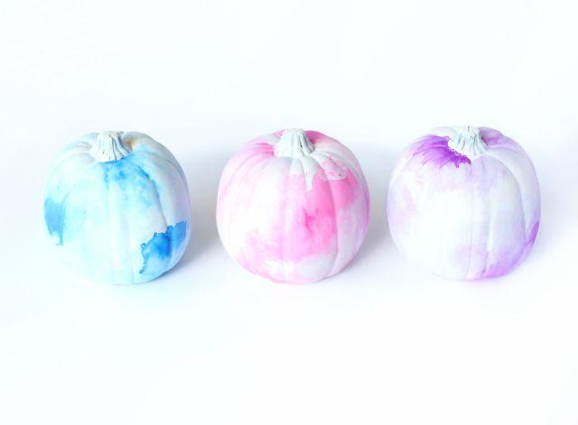 Watercolor Pumpkins @linesacross