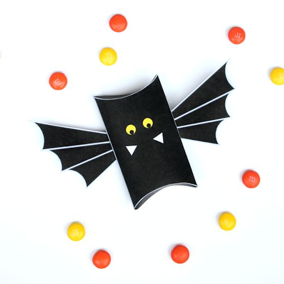 Free Printable Bat Pillow Boxes