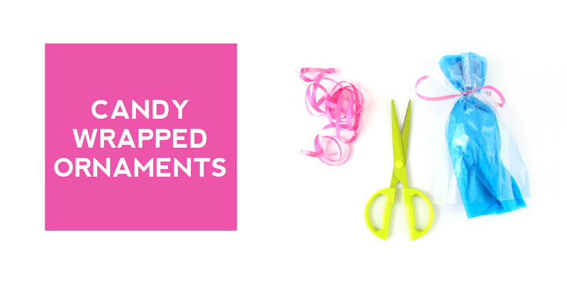 Candy Wrapped Ornaments @linesacross
