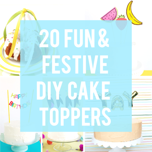 20 Fun and Festive DIY Cake Toppers