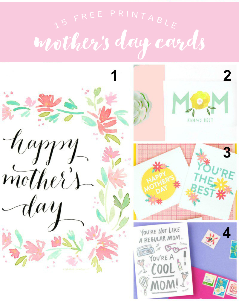 15 Free Printable Mother's Day Cards @linesacross