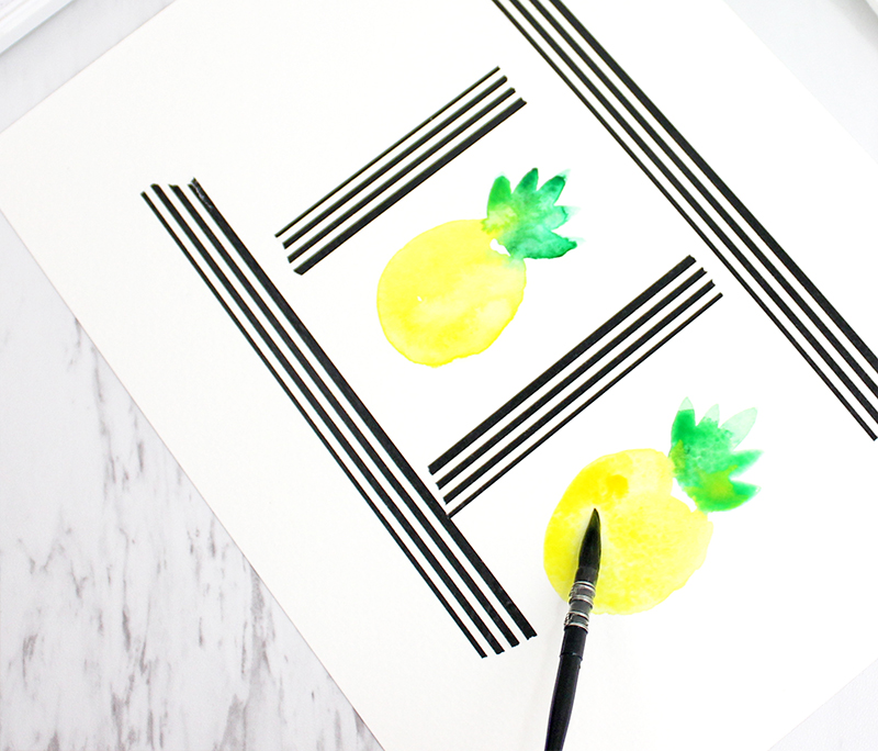painting the pineapple 3
