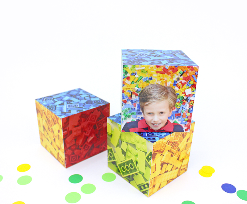lego birthday party blocks
