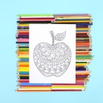 Apple Coloring Page – Free Printable