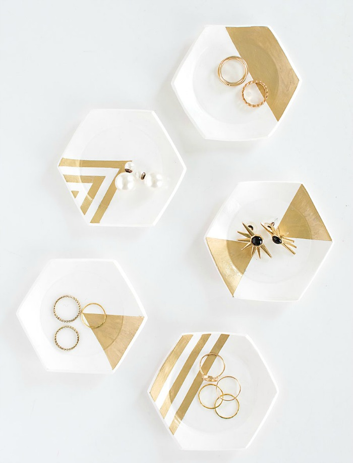 hexagon-ring-dishes-diy-jewelry-organization