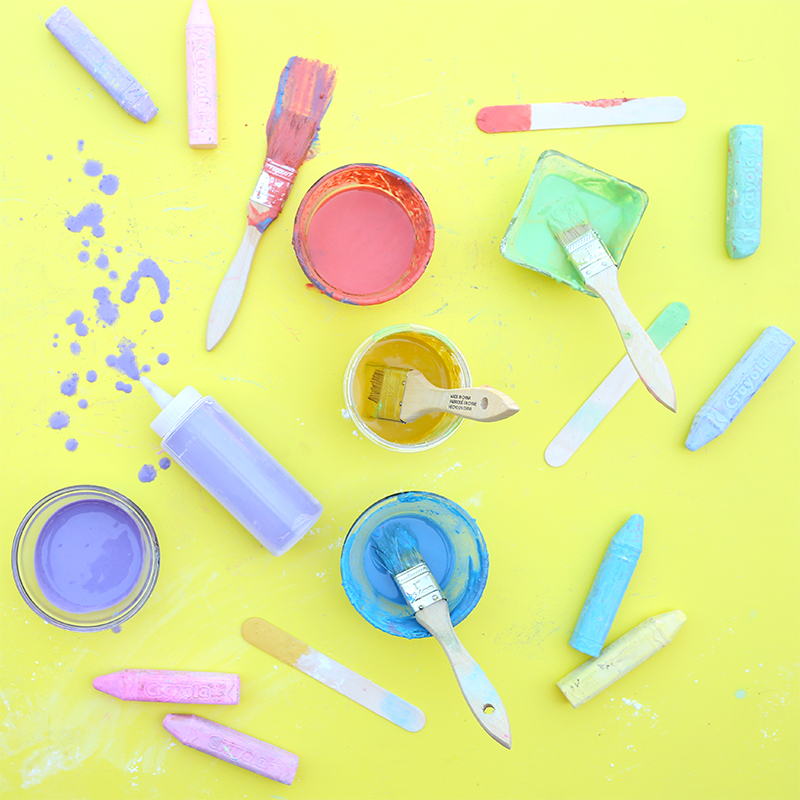 How to make Sidewalk Chalk Paint - click through for the full tutorial