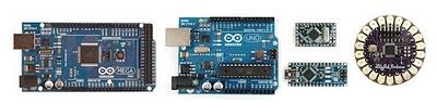 Alguns Arduinos Exemplo