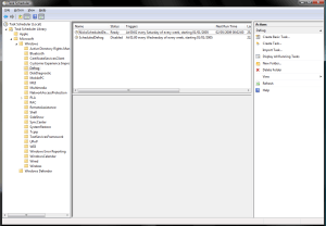 Vista Task Scheduler