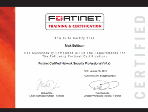 Fortinet FCNSP