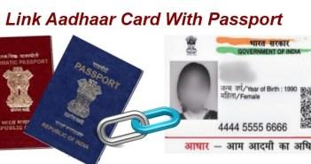 Link aadhaar card with passport