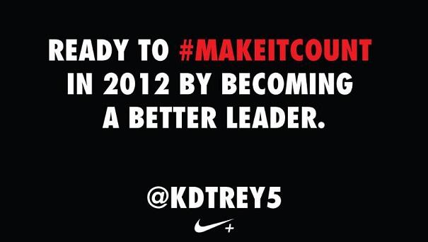 #MakeItCount tweet by Kevin Durant @KDTREY5
