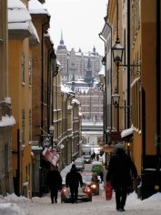 Stockholm streets during Christmas