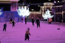 Ice rink in Liseberg on Christmas, Gothenburg