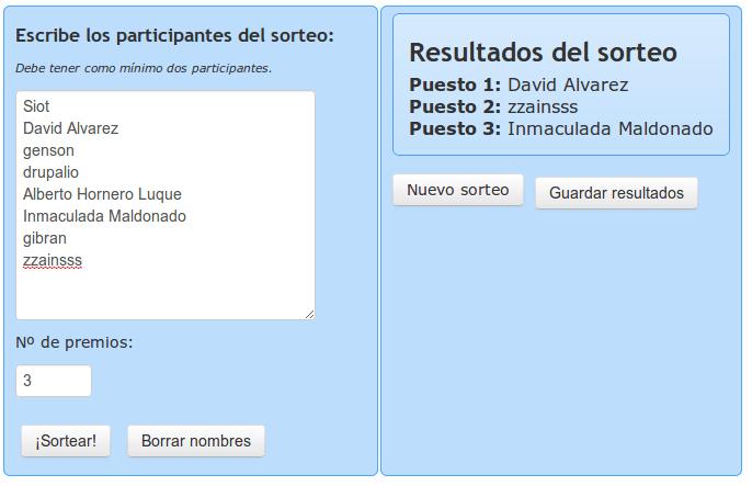 Resultados sorteo plantillas Linux Hispano