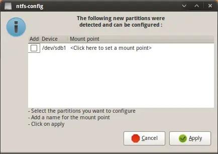 NTFS Mount in Linux
