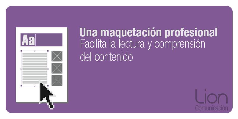 Lion Comunicación: Maquetación de publicaciones en Zaragoza