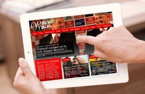 Lions-Tour.com New Web Site Design