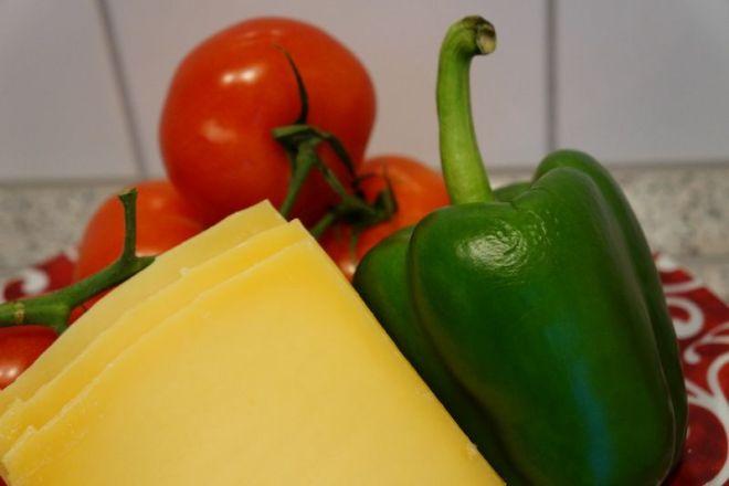 Käse und Gemüse
