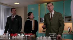 Mad Men Lady Lazarus test kitchen Don-Peggy-Ken